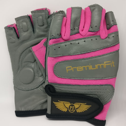 PremiumFit Women's Leather Grip Weightlifting Gloves