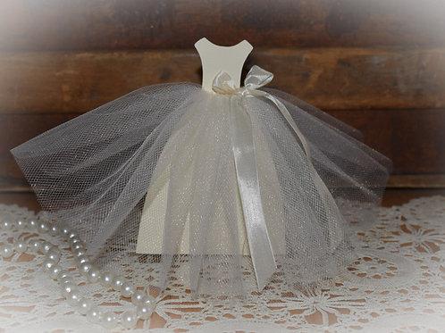 Standing Bridal Shower Wedding Dress Centerpiece