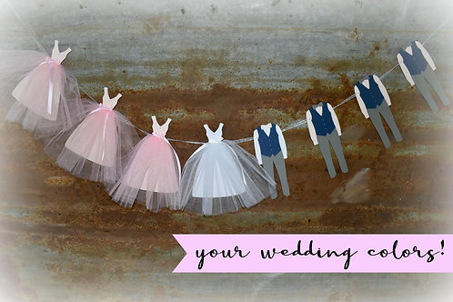 Wedding Party Banner - Vests & Bow Ties