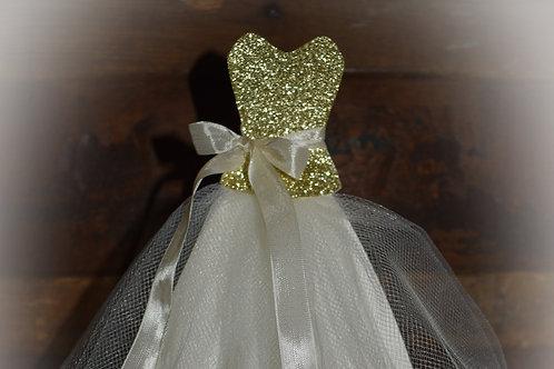 Sweetheart Bridal Shower Wedding Dress Centerpiece