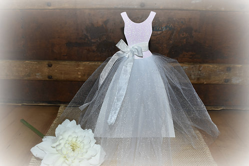 Bridal Shower Wedding Dress Centerpiece
