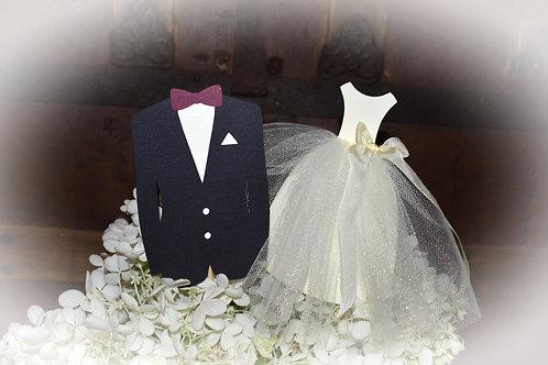 Bride and Groom Centerpiece Picks