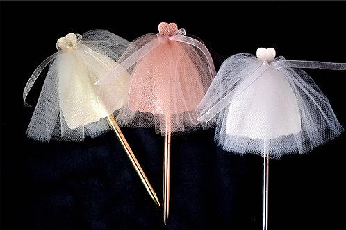 Bridal Shower Wedding Dress Guest Book Pen