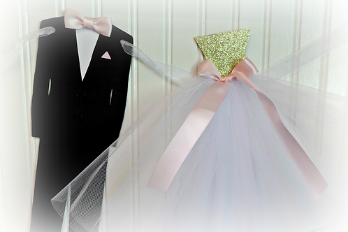 Bride and Groom Chair Banners