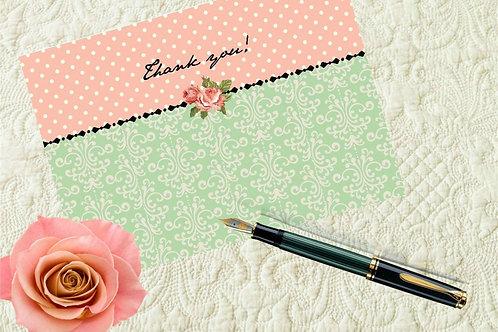 Jane Austen Bridal Shower Thank You Printable