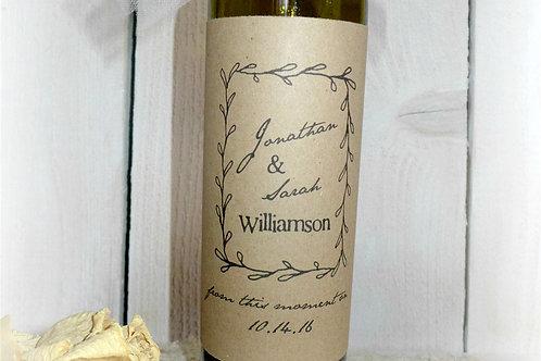Wedding Wine Bottle Printable Labels