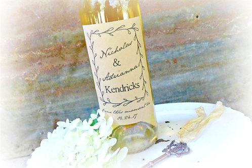 Wedding Wine Bottle Labels, Set of 4