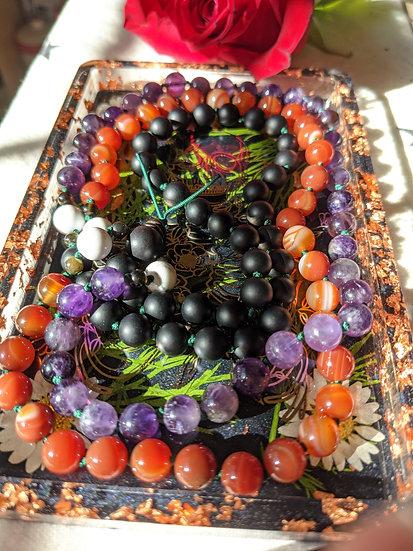 Sekhmet Prayer Beads - Mala - Meditation