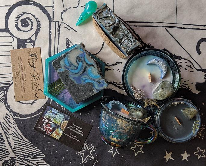 Arianrhod Goddess Set - Grunge Goddess Soap and F&R Candle Collaboration