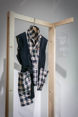 In Spring 2020, I had Toby upcycled my treasured Yves Saint Laurent blazer from their 1980s collection. I was certainly fond of its checkered patterns, but its cut and size didn't quite fit me. I then asked Toby to redesign it so that I could put it on again and keep that beautiful time alive. Upcycle my memories.  Sam Fung  Photo courtesy of Oi!
