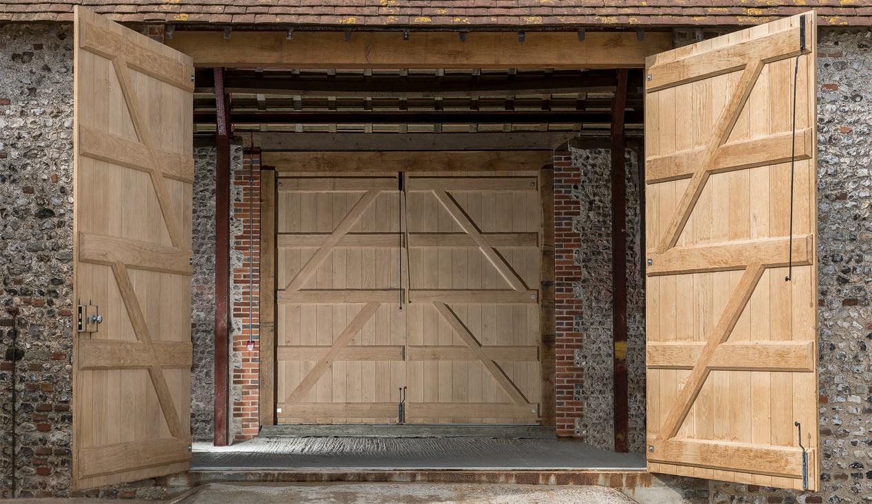 Huge barn oak doors