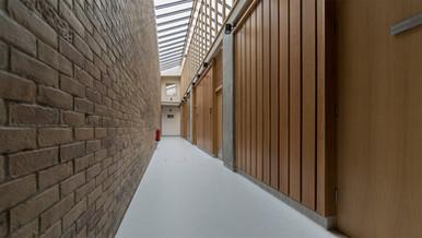 Oak cladding wall