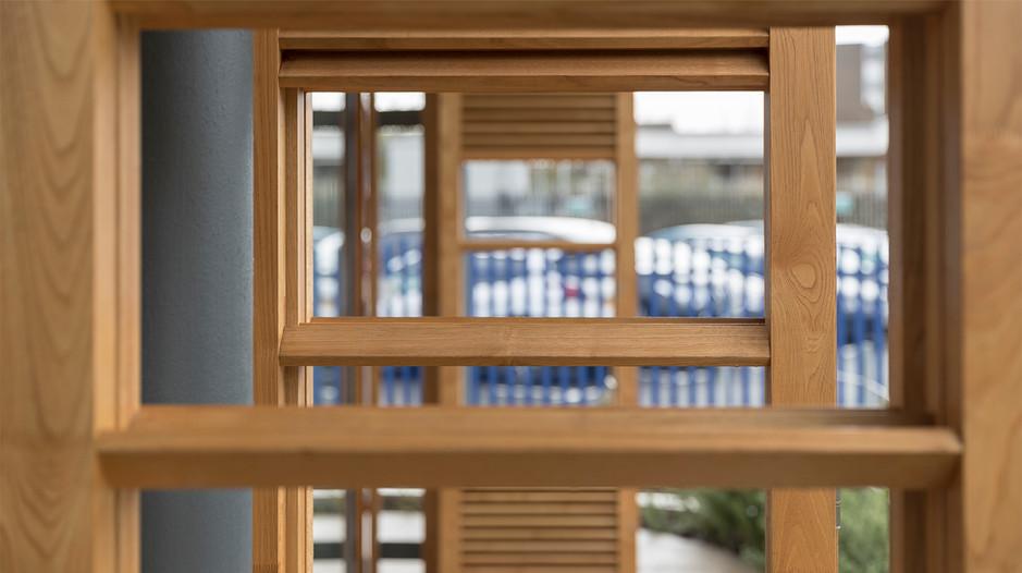 Window shutters close view