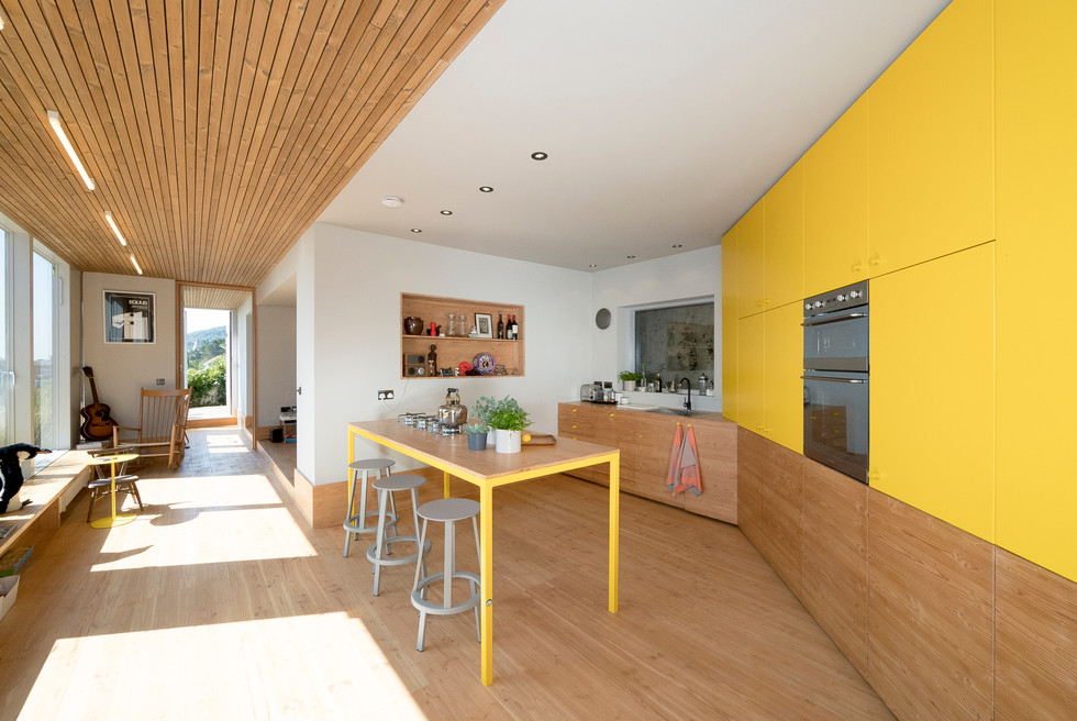 dining room, wood ceiling and wood flooring