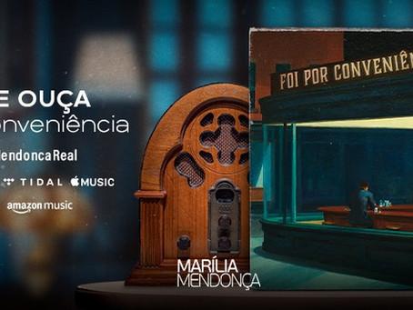 """Marília Mendonça e uma nova música top iniciam 2021, conheça """"Foi Por Conveniência"""""""
