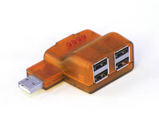 Orange USB Hub