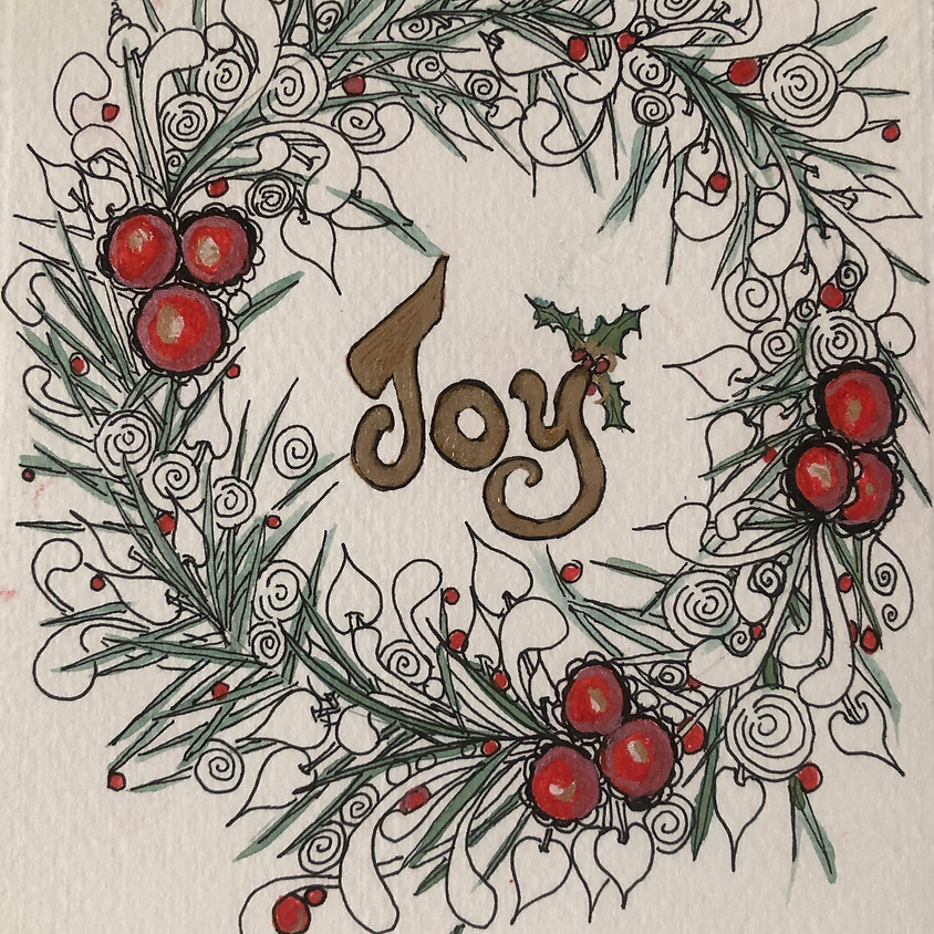 Zentangle Christmas Cards - Jill Smithson, CZT