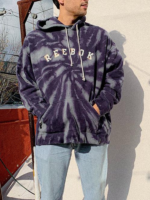 90s Reebok Indigo Blue Stitched Hoodie
