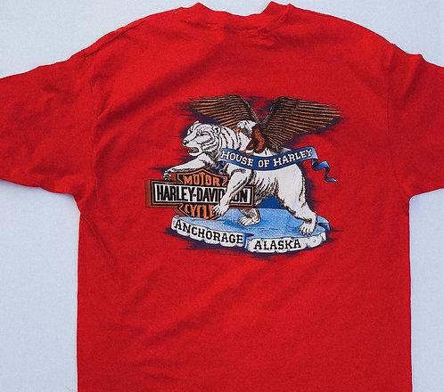 1989 Classic Red House of Harley Alaska Tee XL