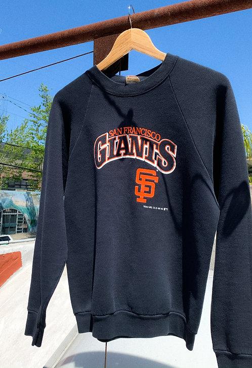 1987 SF Giants Classic Logo Black Crew S/M