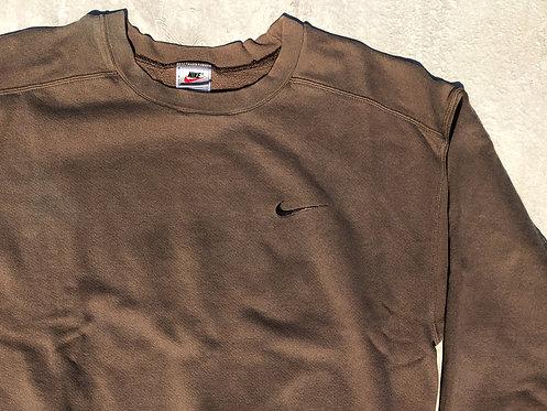 90s Nike Neutral Gravel Chest Logo Crew L/XL