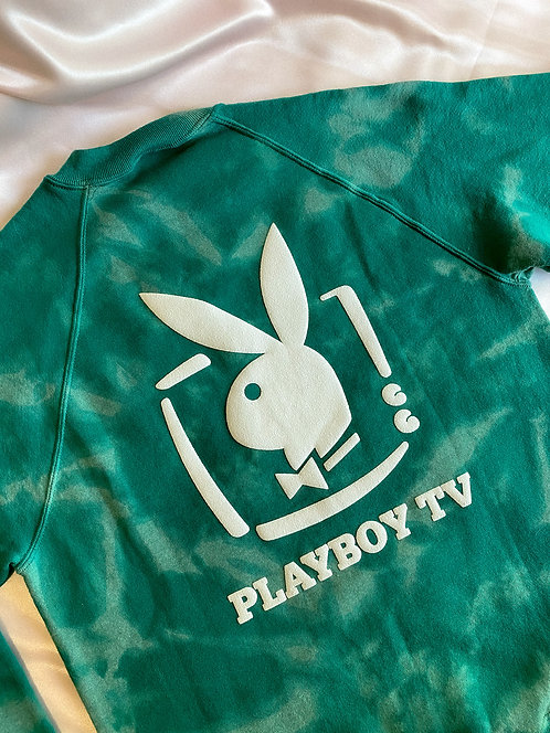 90's Playboy TV Perf Tie Dye Crew M/L
