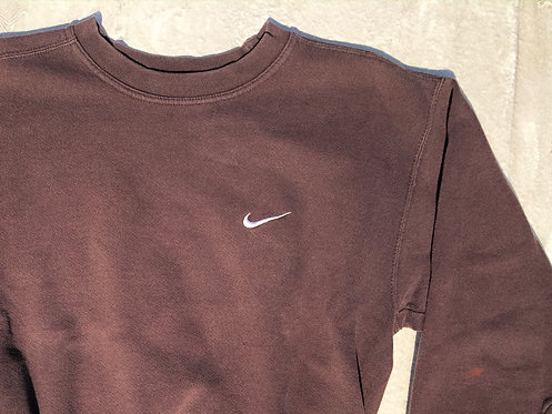 90s Nike Deep Gravel Chest Logo Crew M