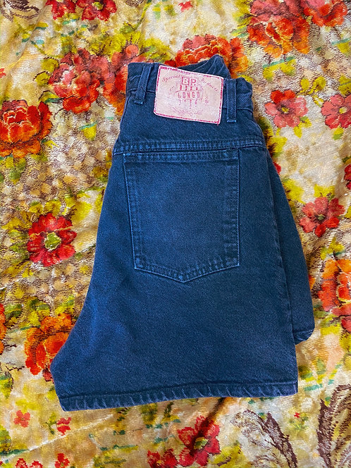 "26"" 90s Bongo Faded Black Denim Shorts"