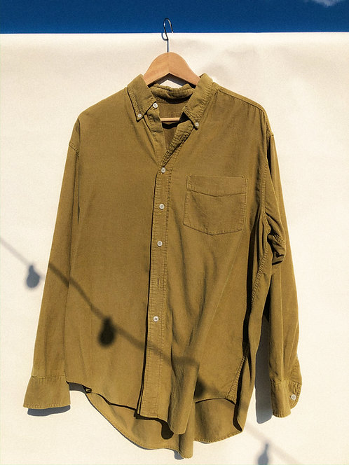 Tobacco Greens Micro-Corduroy Button