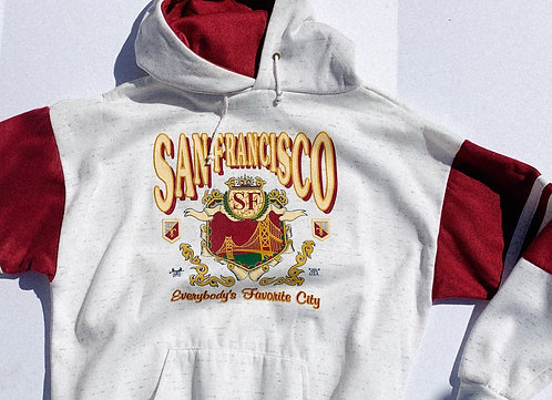 VTG Classic San Francisco Two-tone Hoodie LARGE