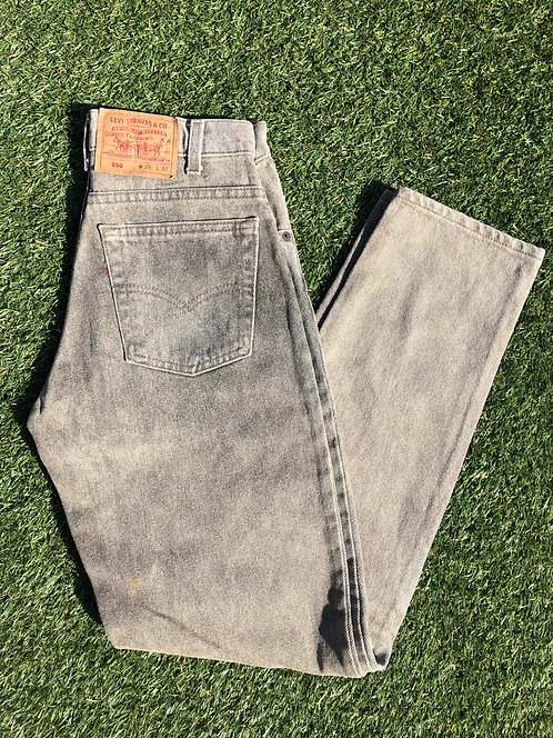 "90's 28"" Levi's Deadstock 550 Stone Gravel Denim"