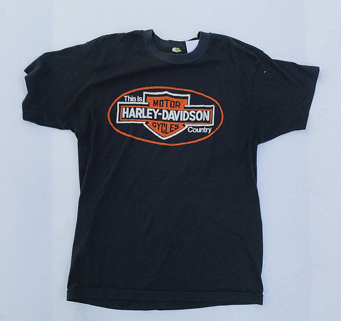 "80s Harley ""This is Harley Country"" Tee M"