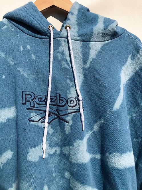 Blue Hypno-Dyed Reebok Hoodie