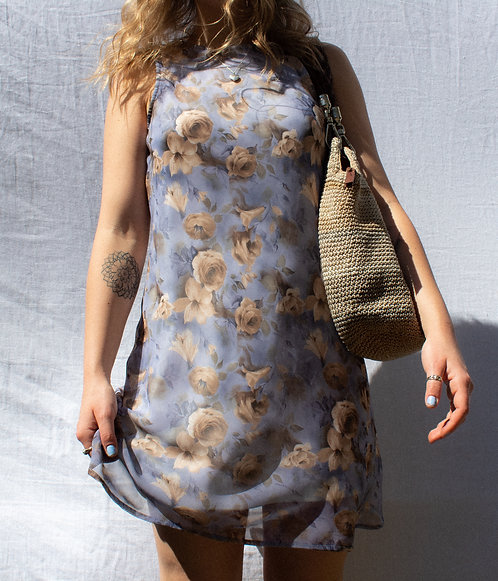 VTG Pretty Floral Brunch Bitch Dress S/M