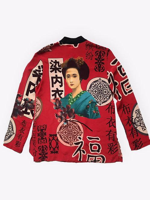Beautiful Silk Printed Jacket