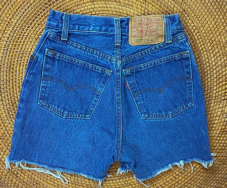 "24"" 80s Levi's 501 Med Wash Denim Cutoffs"