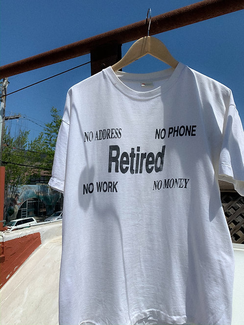 "90s ""Retired"" Faded Tee M/L"
