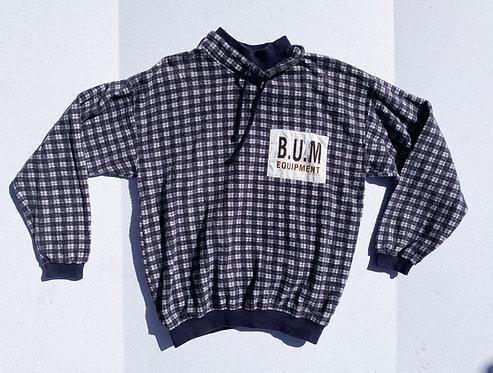 90's Plaid BUM equipment fleece comfy AF Sweater S-M