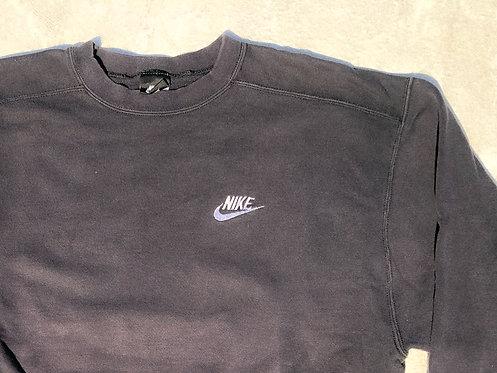 90s Nike Black Script Chest Logo Crew L