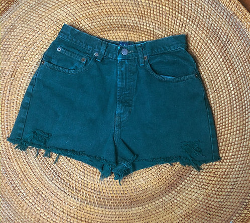 "25"" 90s GAP Deep Ivy Denim Cutoffs"