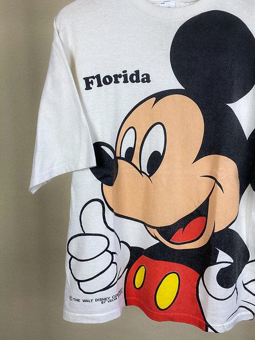 90s Mickey Big Print Florida Classic Tee M/L