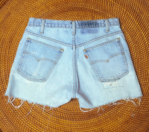 "30"" 70s Levi's Lightwash Orange Tab Denim Cutoffs"