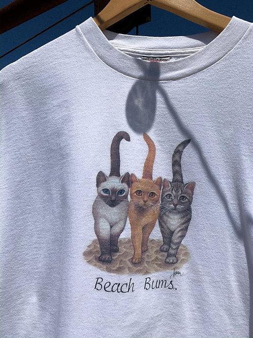 90s Beach Bum Kitties Tee XL/XXL