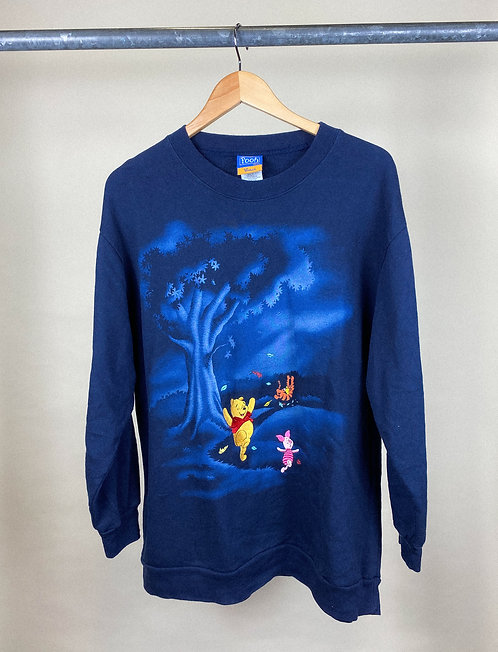 90s Pooh & Friends Navy Crew XL