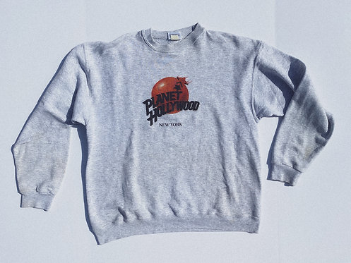 90s Planet Hollywood Classic Heather Crew M-L