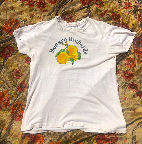 70's Peach Orchard Cotton Tee SMALL