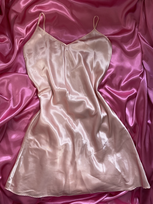 Bed of Roses - Baby Pink Satin Slip M/L