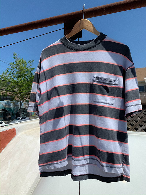 90s Sideout Surf Stripe Pocket Boxy Tee S/M