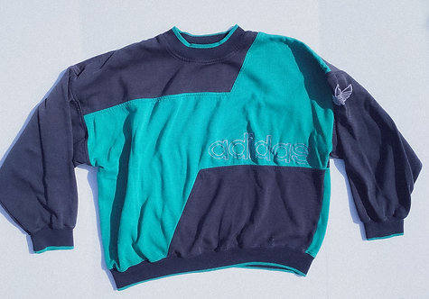 90s SICK Adidas Color Block Crew L