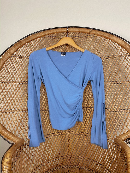 90's Cotton Sabrina Good Witch BB Blue Top S